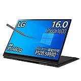LG 2in1 ノートパソコン gram 1480g/バッテリー最大28.5時間/Core i7/16インチ WQXGA(2560×1600)/メモリ 16GB/SSD 512GB/Thunderbolt4/ブラック/16T90P-KA75J (2021年モデル)/Amazon.co.jp限定