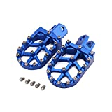 AnXin Foot Pegs Footpegs Footrest Foot Pedals Rests CNC MX For SUZUKI RM125 RM250 RM250Z RMX250 DR-Z400 DR-Z400E DR-Z400S DR-Z400SM KAWASAKI KLX400R Motorcycle Blue