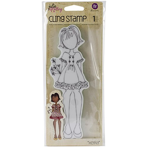 Prima Marketing Julie Nutting Mixed Media Cling Rubber Stamps -Kiera, 2.25-Inch by 7.5-Inch