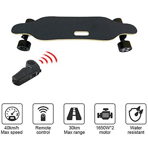 WOTR Elektro-Sport Skateboard, Off-Road Cruise Roller Auto mit Fernbedienung, 600W Dual-Motor, Ferngesteuertes High Speed Board (4.4Ah Batterie)