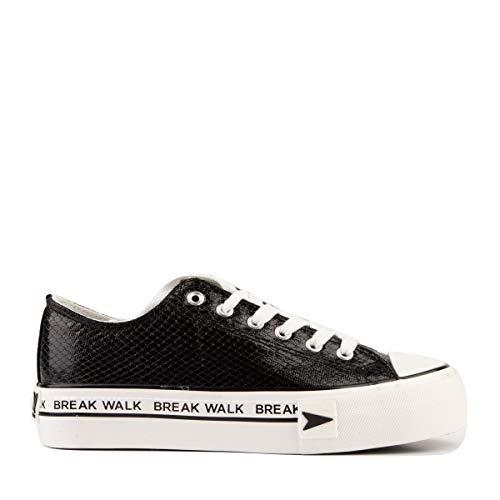D.Franklin Sneakers Bay Plataforma, Zapatillas para Mujer, Negro, 38 EU