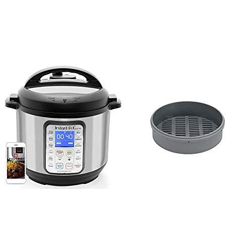 Instant Pot Smart WiFi 8-in-1 Electric Pressure Cooker, Sterilizer, Slow Cooker, Rice Cooker, Steamer, Saute, Yogurt Maker, Cake Maker, 6 Quart, 13 One-Touch Programs & Silicone Steamer Basket