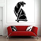 Angry Jaguar Wall Decal Waterproof Vinyl Animal Poster Pattern Wall Sticker42x27cm