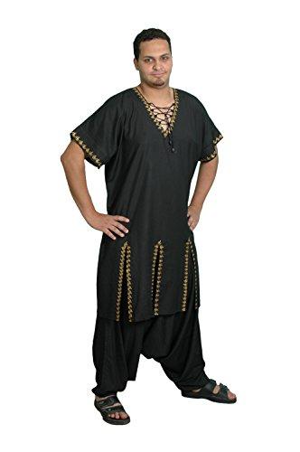 Zweiteiliges Salwar-Kameez-Set im Pakistani-Stil, Größe: 6XL, schwarz