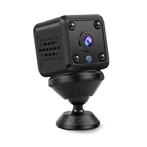 小型カメラ 隠しカメラ 監視カメラ WIFI WiFiスマホ対応 1500mAh充電式 長時間録画/録音【1080P超高画質 150度広角】小型隠しカメラ ビデオ・撮影・録音・通話 動体検知 リアルタイム 遠隔操作 隠しカメラ 循環録画 IOS/Android対応 室内用防犯カメラ 赤外線暗視 スパイカメラ 防犯カメラ 操作簡単 日本語説明書 正規品 (ブラック)