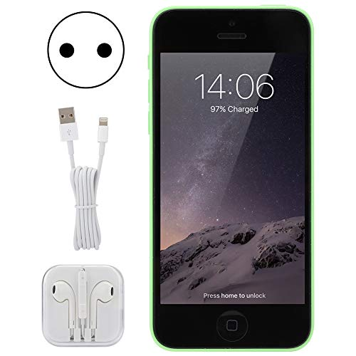 WLH Reacondicionado para iPhone 5C 1136x640 Pantalla 1.2 + 8mp Smartphone 1 + 16G Verde 100-240V (Enchufe De La UE) Teléfono