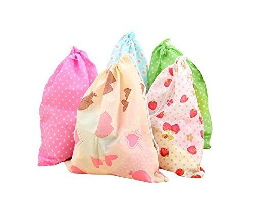 Set de 10bolsas de tela reutilizables, de tela no tejida, antipolvo y transpirable.