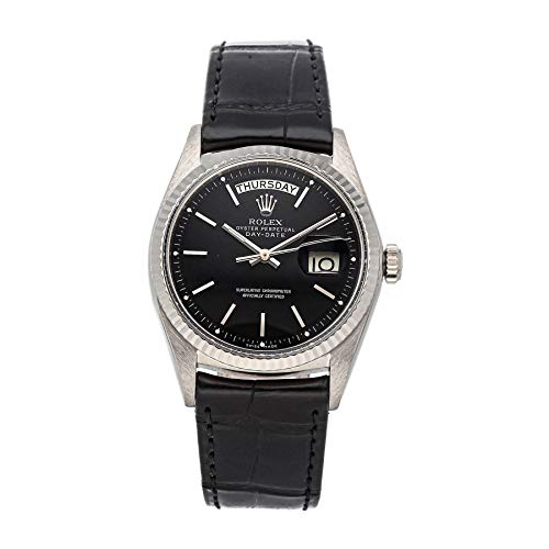 Rolex Day-Date Mechanical (Automatic) Black Dial Mens Watch 1803/9 (Certified Pre-Owned)