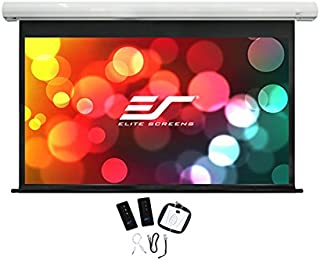 """Elite Screens Saker, 110-inch 16:9 with 24"""" Drop, Electric Motorized Drop Down Projection Projector Screen, SK110XHW-E24"""