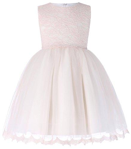 Prinzessin Leicht Rosa Aermellos A-Linie Brautjungfer Party Kleid 10-11 Jahre