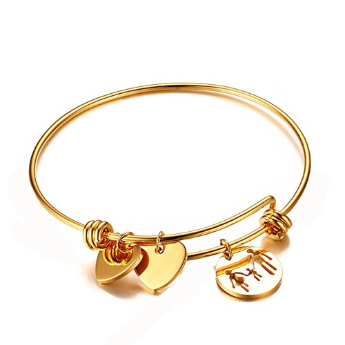 Daesar Armband Armreif Edelstahl armband für Frauen Drei Personen Gold Armschmuck Armbänder