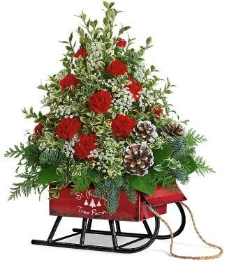 Christmas Grand Sleigh Bunch - The Shopstation Same Day Christmas Flower Delivery - Online Christmas Flowers & Gifts - Send Christmas Flowers Bouquets,Centerpiece,Gifts