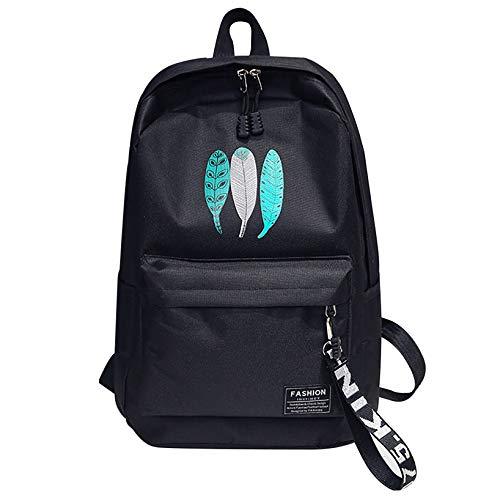 Lilui Aelicy Casual schoolrugzak schooltas schoolrugzak voor jongeren jongens grote capaciteit vrouwen mannen leerlingen laptop rugzak nieuw 2019 Zwart