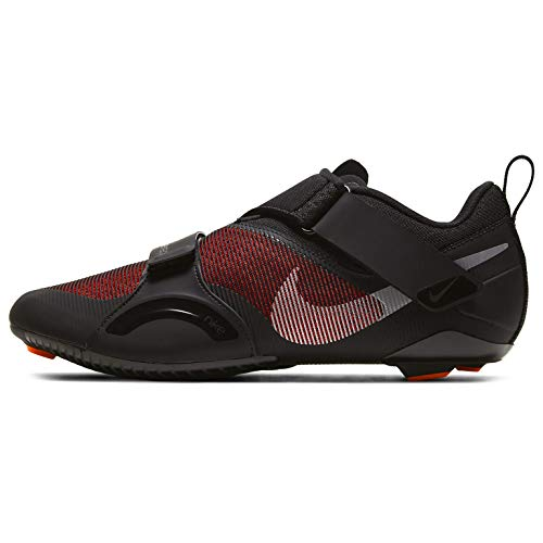 Nike SuperRep Cycle, Trainer Uomo, Black Metallic Silver Hyper Crimson, 45 EU