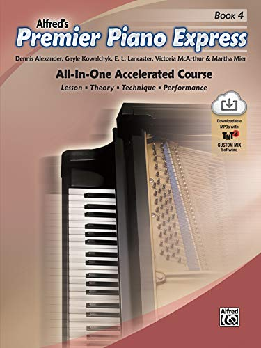 Premier Piano Express, Bk 4: All-In-One Accelerated Course, Book & Online Audio & Software
