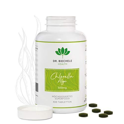 Dr. Biechele Chlorella Alge I 400 x 500 mg hochwertige Algen-Presslinge