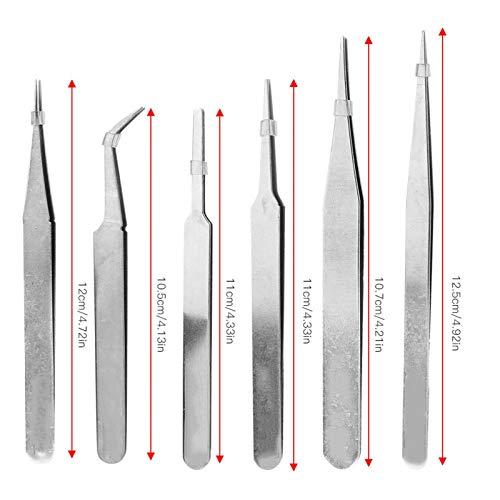 Pince à épiler antistatique non magnétique Outil de réparation de bonne résistance