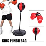 Altezza Regolabile Bambini Punching Ball Speed Boxe Sport Set Fighting Game con i Guanti punzonatura Palla, Il Sacchetto di Pugilato in Piedi AQUILA1125