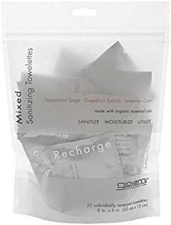 Giovanni Organic Mixed Towelette - 20 per pack - 3 packs per case.
