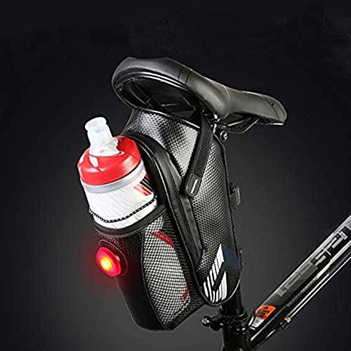 Borsa Porta Cellulare Bici, Borsa da sella impermeabile, borsa da bici con luce posteriore,Borsa strap-on bike Borsa sottosella per mountain bike MTB da strada