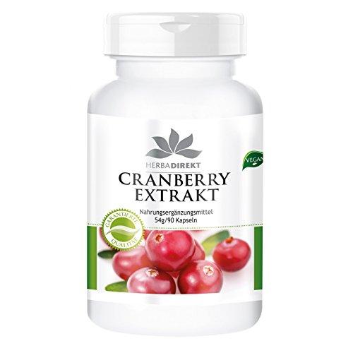 Cranberry Kapseln - Cranberry-Extrakt 25-fach konzentriert - hochdosiert - 90 Kapseln - vegan