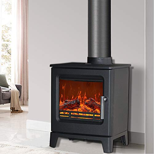 NRG 4.3KW Cast Iron Woodburning Stove Eco Design High Efficiency Wood Burner Fireplace Defra Approved