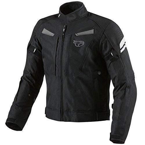 Chaqueta Jet Motorcylce Motorbike multi-funcional, negro, negro, 7XL (54' - 56')