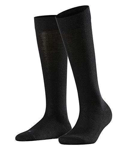 FALKE Damen Kniestrümpfe Sensitive London - 94% Baumwolle, 1 Paar, Schwarz (Black 3009), Größe: 39-42