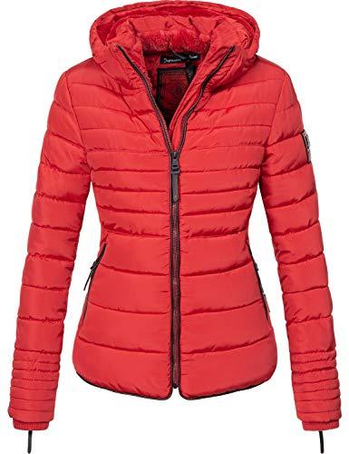 Marikoo Damen Winterjacke Steppjacke Amber Rot Gr. XS