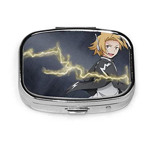 D-enki K-aminari Anime para hombre, caja de pastillas de bolsillo, caja de pastillas, soporte para tableta, estuche organizador de cartera para bolsillo o bolso