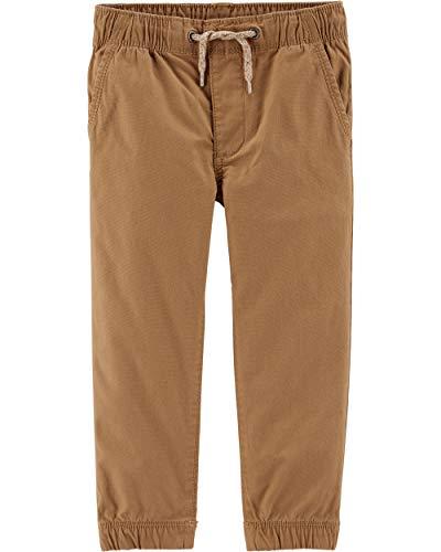 OshKosh B'Gosh boys Pull-on Twill Joggers Casual Pants, Cedar, 5T US