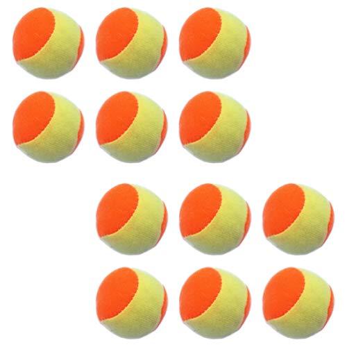 TOYANDONA 12 Stücke 6.3cm Klettball Set Kinder Klettballspiel Fangballspiel Ballspiel Set Ersatzbälle Paddle Ball Spiel Klett Wurfspiel für Strand Outdoor Sport Spielzeug