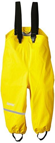 CareTec Kinder Regenlatzhose, wind- und wasserdicht (verschiedene Farben), Gelb (Yellow 324), 80