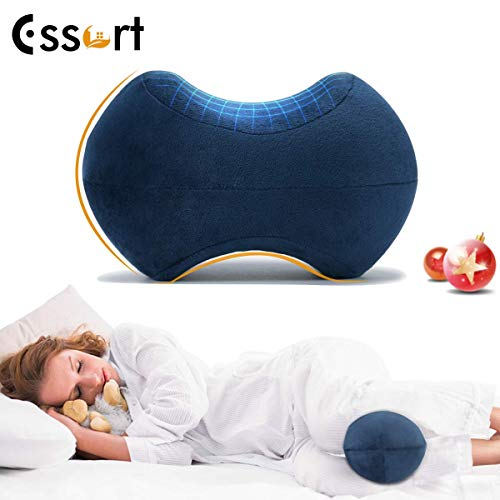 ESSORT Orthopädisches Kniekissen, Memory Foam Legs Positioner Pillow, Konturiertes Kniekissen zur Ischiasentlastung, Rückenschmerzen Beinschmerzen Hüft- und Gelenkschmerzen