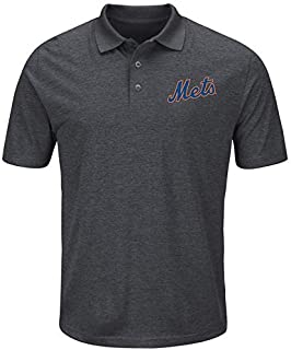 Majestic Majestic New York Mets Charcoal Endless Flow Cool Base Polo スポーツ用品 【並行輸入品】