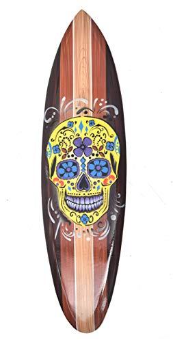 Interlifestyle - Tabla de surf (madera, 80 cm), diseño de calavera