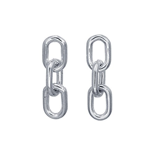 Boma Jewelry Sterling Silver Chain Link Stud Earrings