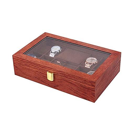 CCAN Caja de Reloj de Madera Collar Vintage Anillo Pendientes Joyero Caja de Almacenamiento Creativa