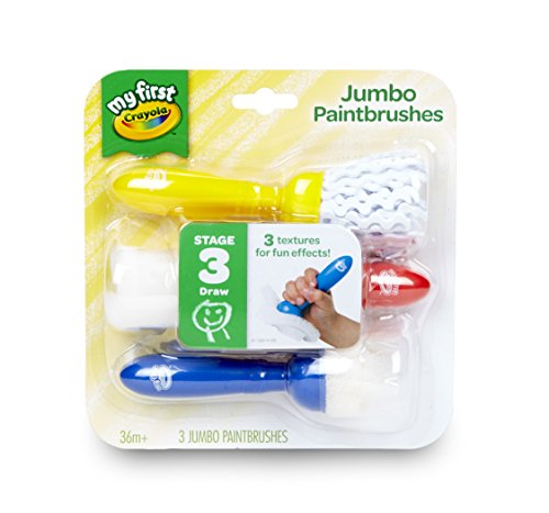 Crayola My First Jumbo Toddler Paint Brushes, Painting for Toddlers, 3ct