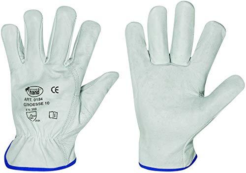 HandschuhMan. 3 Paar Arbeitshandschuhe aus weichem Rindleder Fahrerhandschuhe von StrongHand Gr. 8-12 (8/M)