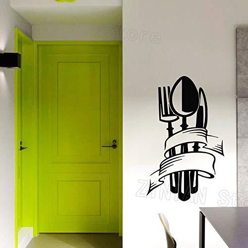 Tianpengyuanshuai Küche wandaufkleber Messer löffel Aufkleber Gabel Vinyl Aufkleber Dekoration Wohnzimmer esszimmer Dekoration Kunst 72x45 cm