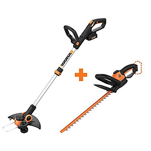 """WORX WG163 GT 3.0 20V PowerShare 12"""" Cordless String Trimmer & Edger with Power Share 22-inch Cordless Hedge Trimmer, Bare Tool Only"""