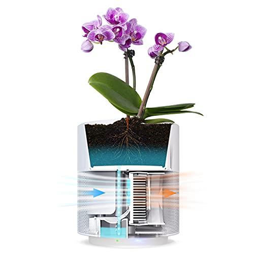 "Self Watering Plant Pot Indoor, Relassy 7"" Planter for Plants, Smart..."
