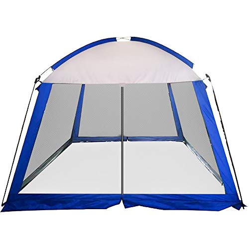 APENCHREN Large Garden Shed, UV Sail Shade, Garden Awning Canopy, Portable Waterproof Foldable Pergola (3x3x2.15m/9.8x9.8x7ft),Blue