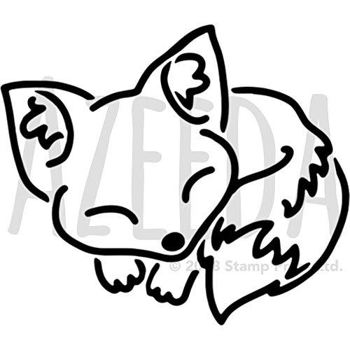 Azeeda A5 'Schlafender Fuchs' Wandschablone / Vorlage (WS00029600)