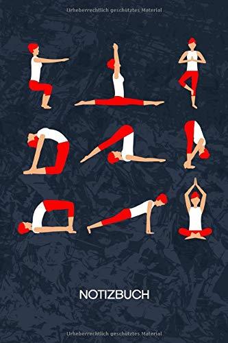 NOTIZBUCH: A5 Kariert - 120 Seiten KARO - Geschenkidee für Yoga Liebhaber Heft Yoga Notizheft - Meditation Notizblock Yoga Übungen Motiv - Yogi Geschenk Yogatherapie