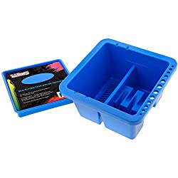 in budget affordable US Art Supply 12-hole multipurpose plastic brush, cleaner, holder with pallet cover …