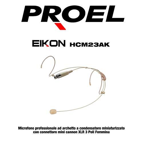 Proel EIKON HCM23AK - Microfono ad archetto condensatore miniaturizzato, necessita di BODYPACK (HCM23AK)