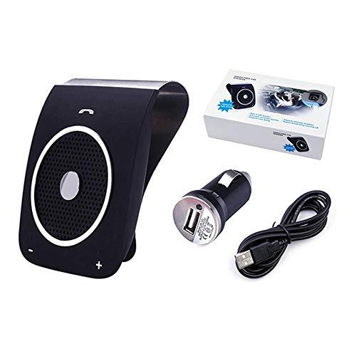 ZRK Sonnenblende Auto Bluetooth-Freisprecheinrichtung-Auto Freisprecheinrichtung für Zwei Smart Style Bluetooth-Lautsprecher,Black