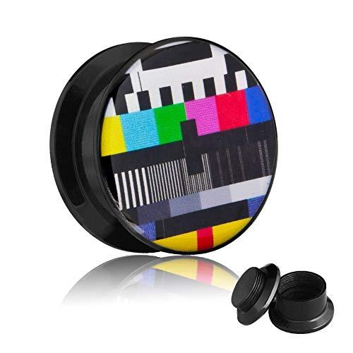 Picture Plug - Gewinde - TV Testbild 8 mm
